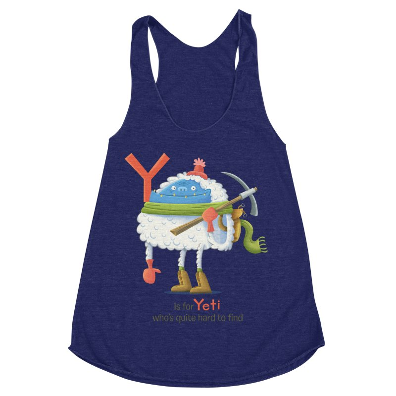 Y is for Yeti Women's Racerback Triblend Tank by Hazy Dell Press