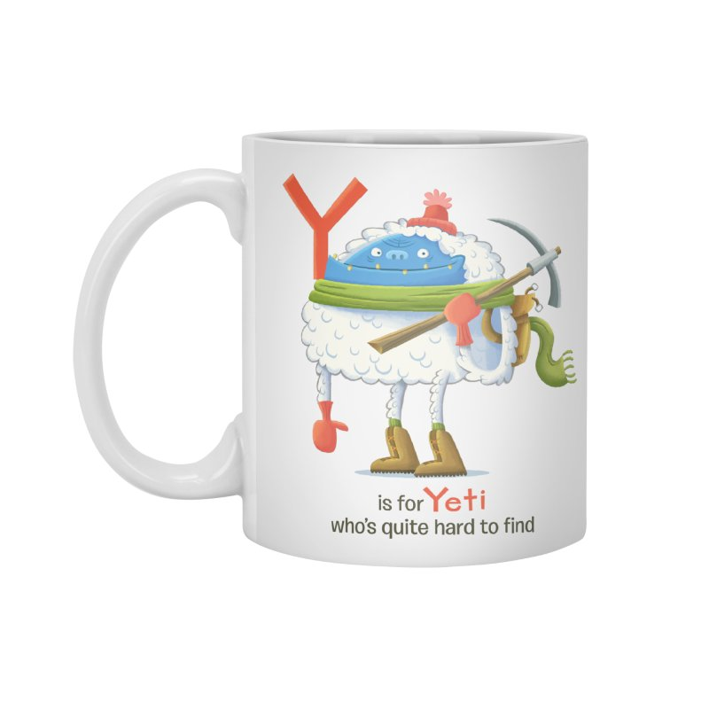 Y is for Yeti Accessories Standard Mug by Hazy Dell Press