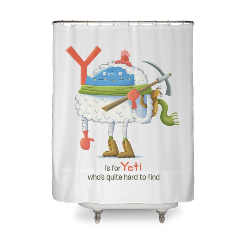 Y is for Yeti Home Shower Curtain by Hazy Dell Press