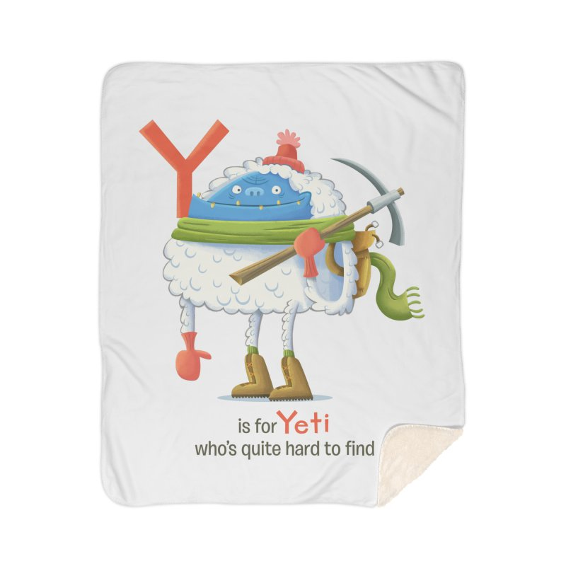 Y is for Yeti Home Sherpa Blanket Blanket by Hazy Dell Press