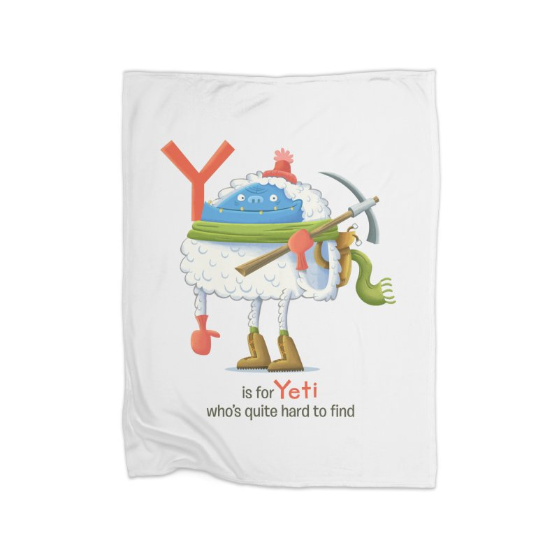 Y is for Yeti Home Blanket by Hazy Dell Press