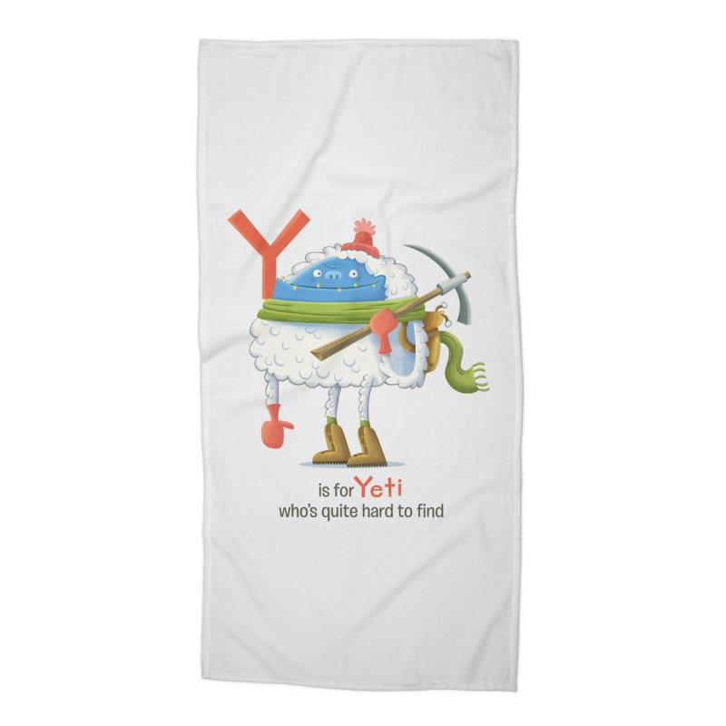 Y is for Yeti Accessories Beach Towel by Hazy Dell Press