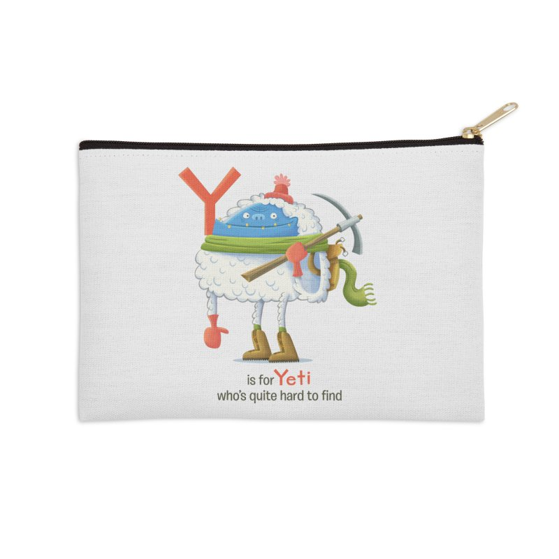 Y is for Yeti Accessories Zip Pouch by Hazy Dell Press