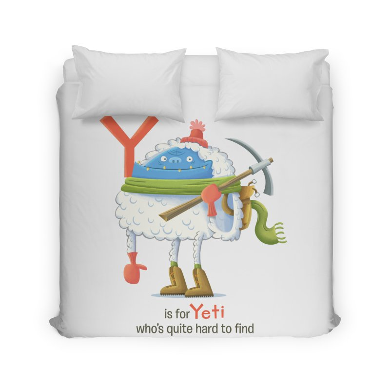 Y is for Yeti Home Duvet by Hazy Dell Press