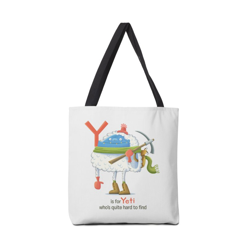 Y is for Yeti Accessories Tote Bag Bag by Hazy Dell Press