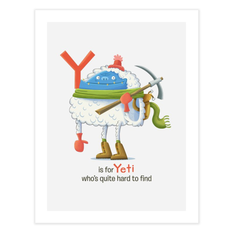 Y is for Yeti Home Fine Art Print by Hazy Dell Press