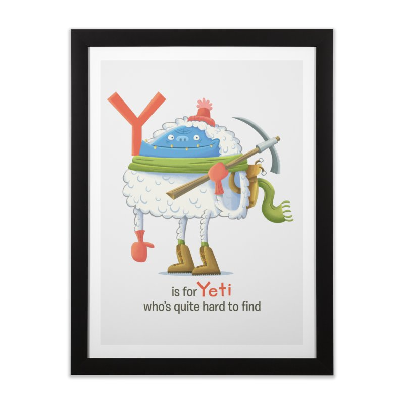 Y is for Yeti Home Framed Fine Art Print by Hazy Dell Press