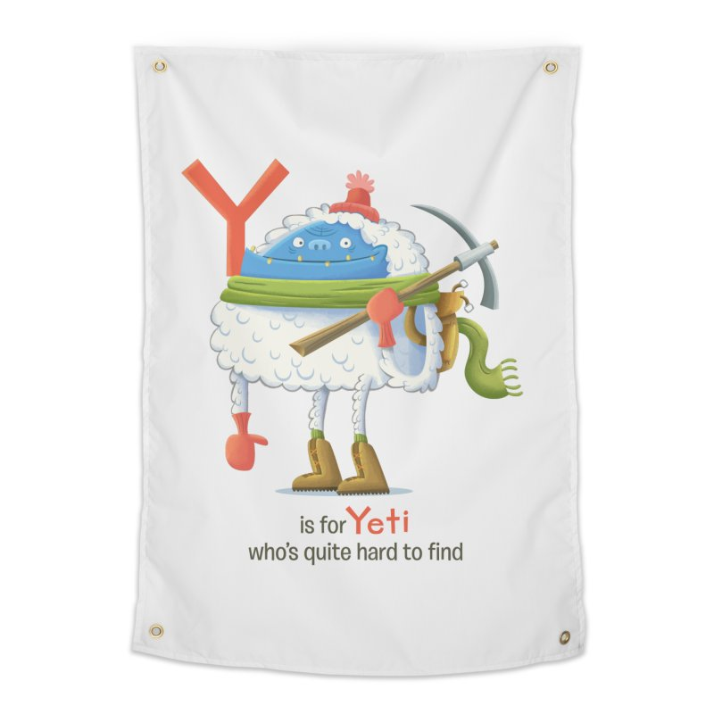 Y is for Yeti Home Tapestry by Hazy Dell Press