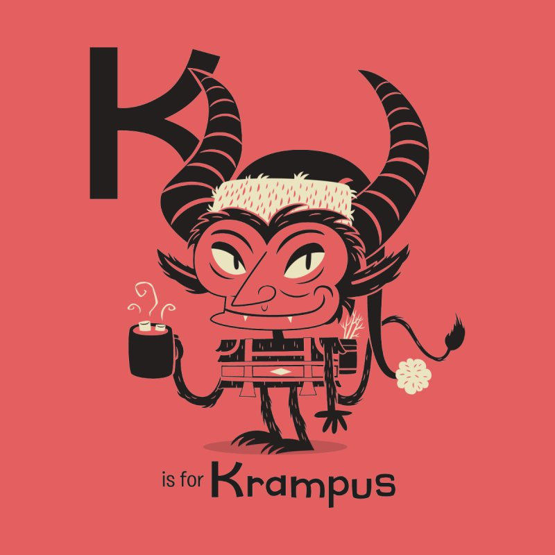 K is for Krampus Kids Baby Longsleeve Bodysuit by Hazy Dell Press