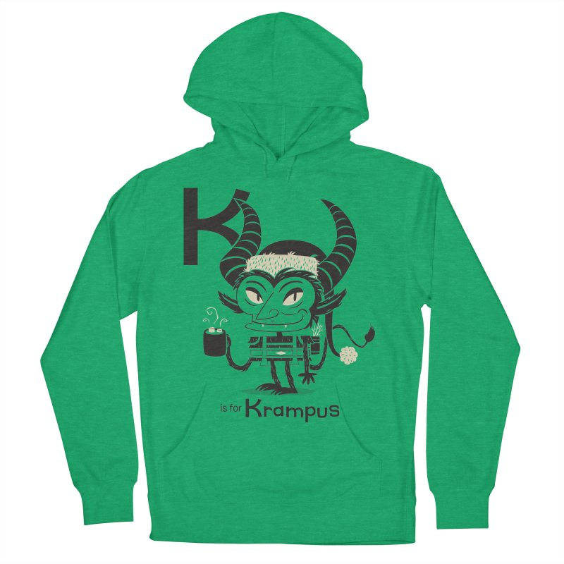 K is for Krampus Women's Pullover Hoody by Hazy Dell Press