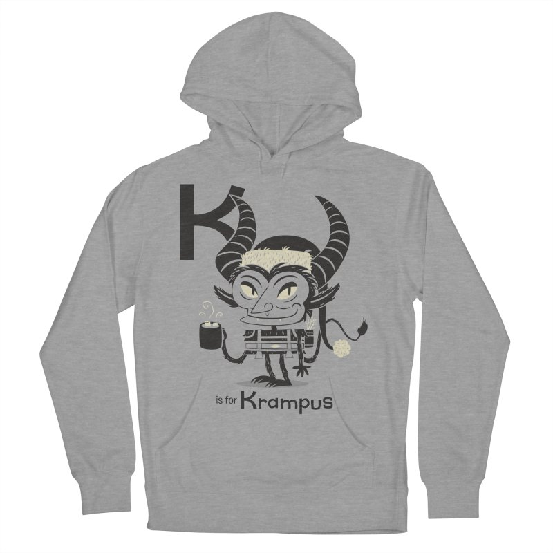 K is for Krampus Women's French Terry Pullover Hoody by Hazy Dell Press