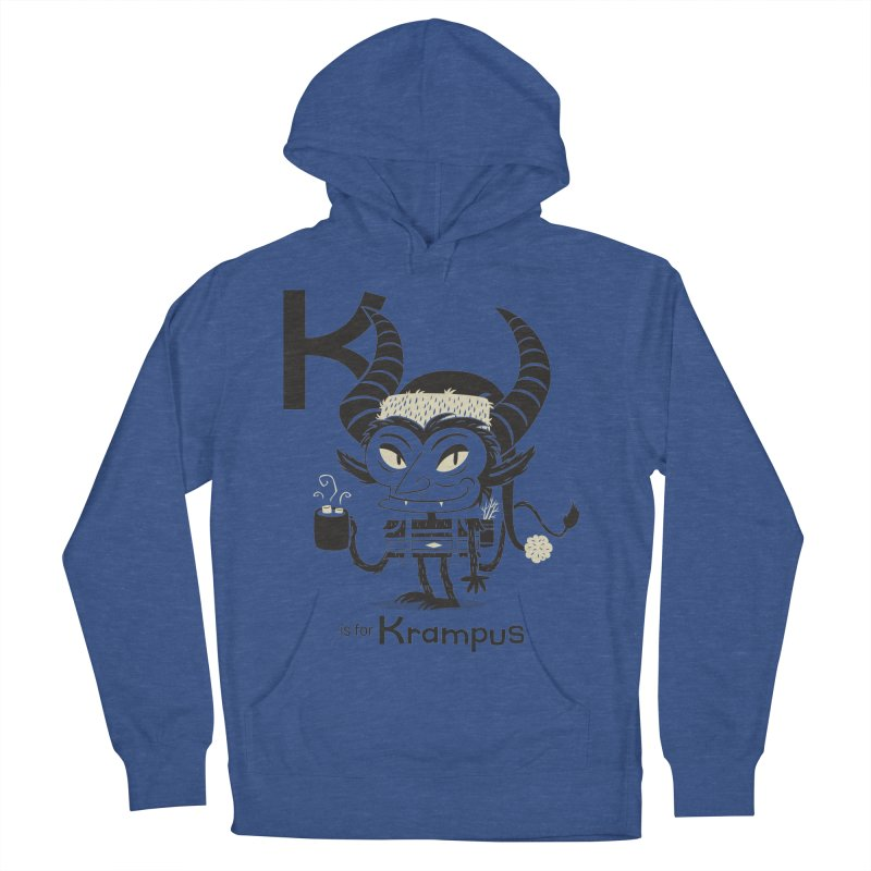 K is for Krampus Men's French Terry Pullover Hoody by Hazy Dell Press