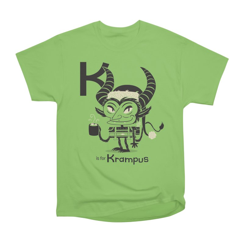 K is for Krampus Men's Heavyweight T-Shirt by Hazy Dell Press