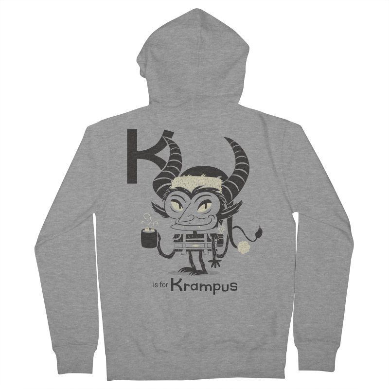 K is for Krampus Women's Zip-Up Hoody by Hazy Dell Press