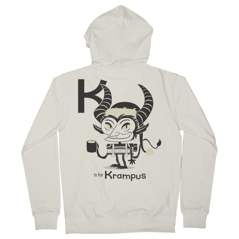 K is for Krampus Women's Zip-Up Hoody by Hazy Dell Press