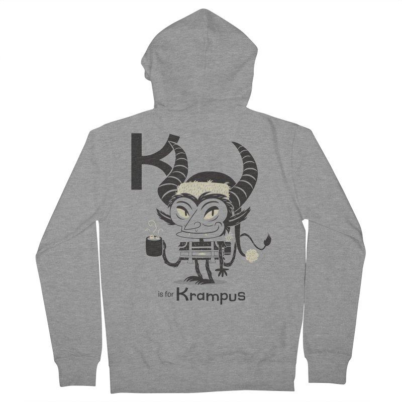 K is for Krampus Men's Zip-Up Hoody by Hazy Dell Press