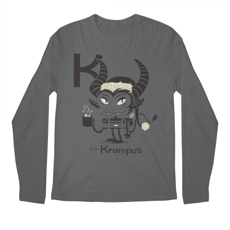 K is for Krampus Men's Longsleeve T-Shirt by Hazy Dell Press