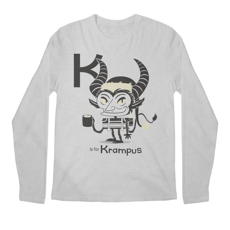 K is for Krampus Men's Regular Longsleeve T-Shirt by Hazy Dell Press