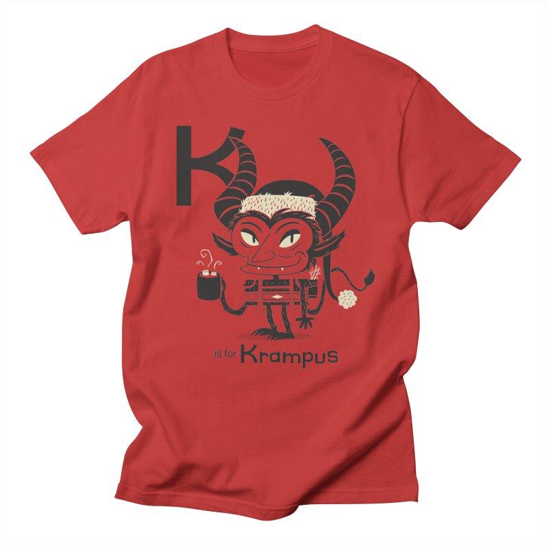 K is for Krampus Men's Regular T-Shirt by Hazy Dell Press