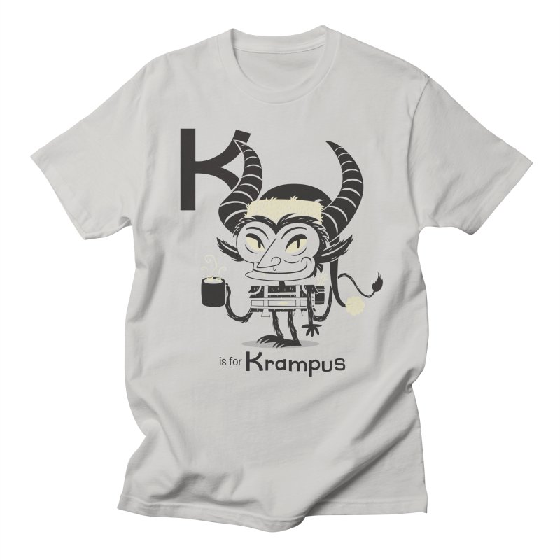 K is for Krampus Men's Regular T-Shirt by Hazy Dell Press