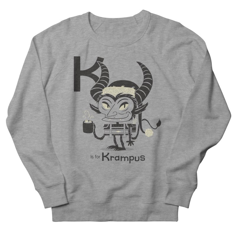 K is for Krampus Women's French Terry Sweatshirt by Hazy Dell Press