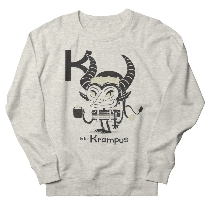 K is for Krampus Men's French Terry Sweatshirt by Hazy Dell Press