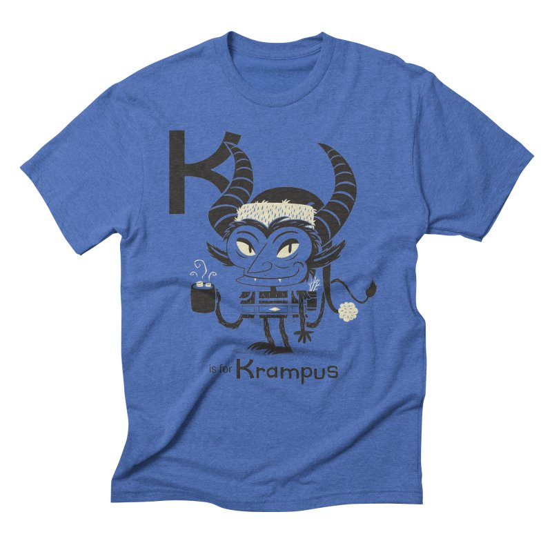 K is for Krampus Men's Triblend T-Shirt by Hazy Dell Press