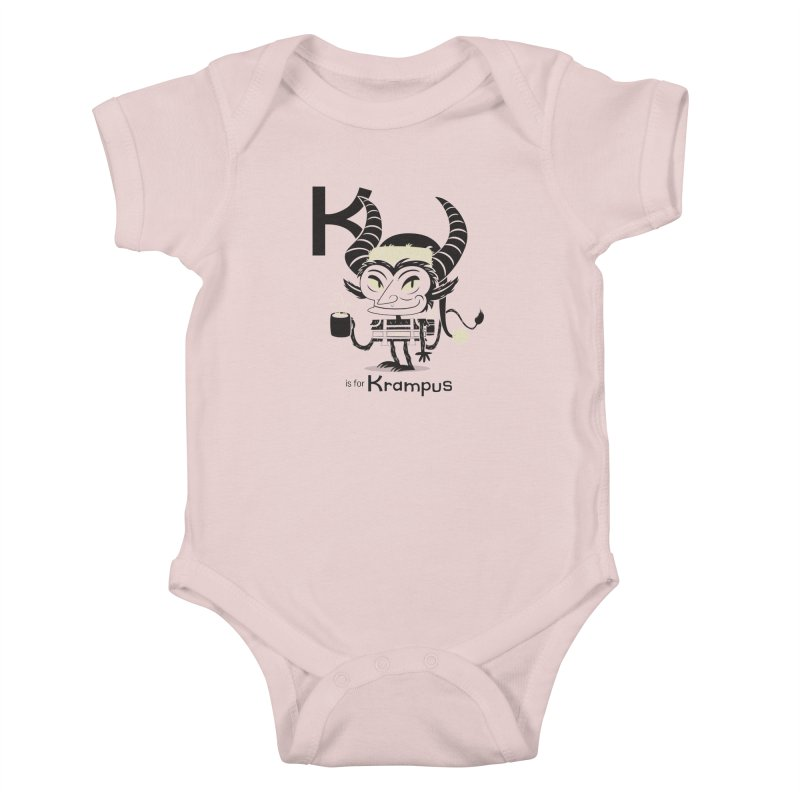 K is for Krampus Kids Baby Bodysuit by Hazy Dell Press