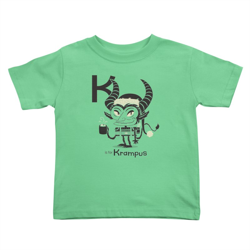 K is for Krampus Kids Toddler T-Shirt by Hazy Dell Press