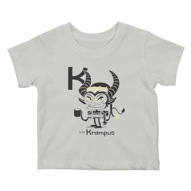 K is for Krampus Kids Baby T-Shirt by Hazy Dell Press