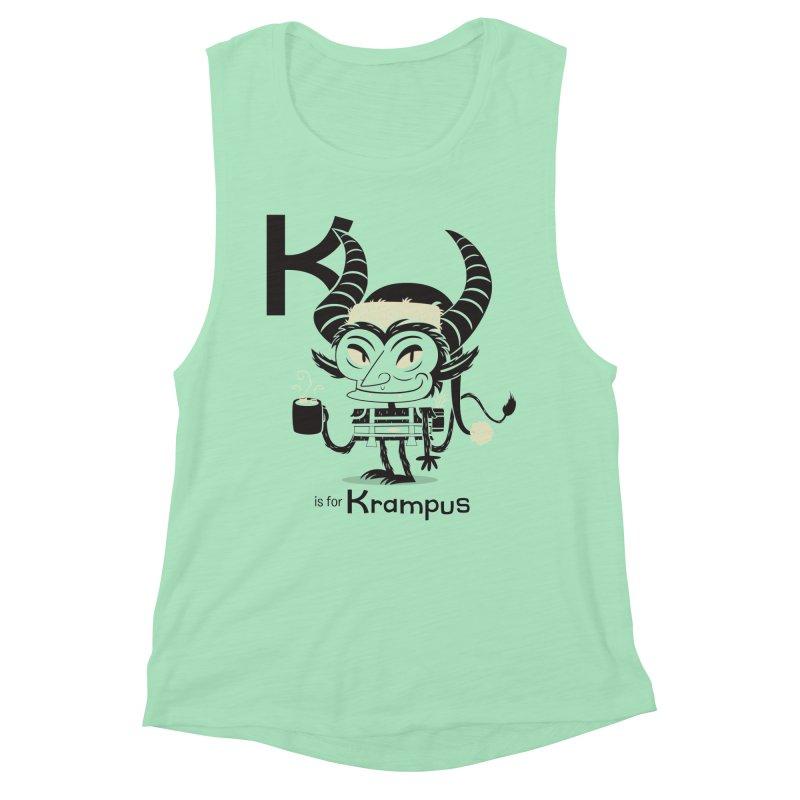 K is for Krampus Women's Tank by Hazy Dell Press
