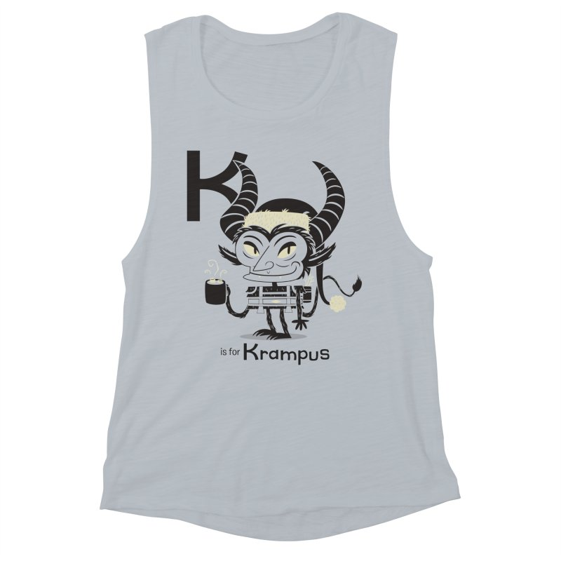 K is for Krampus Women's Muscle Tank by Hazy Dell Press
