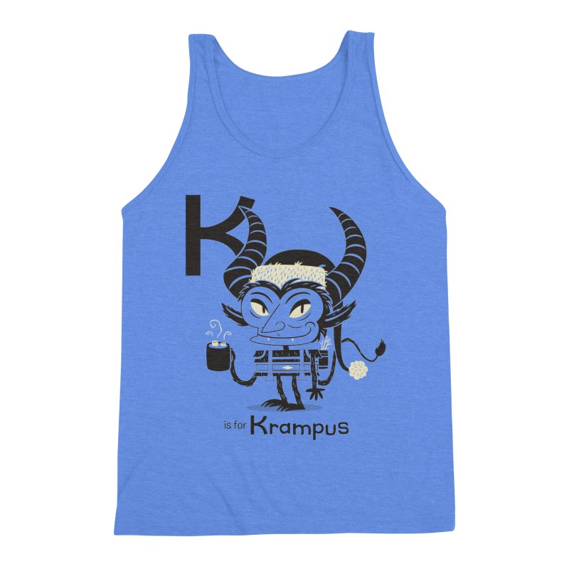 K is for Krampus Men's Triblend Tank by Hazy Dell Press
