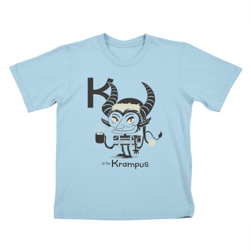 K is for Krampus Kids T-Shirt by Hazy Dell Press