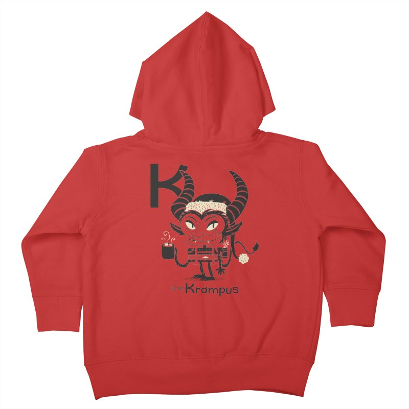 K is for Krampus Kids Toddler Zip-Up Hoody by Hazy Dell Press