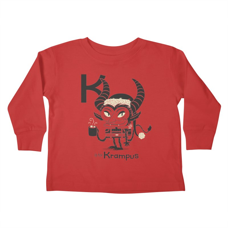 K is for Krampus Kids Toddler Longsleeve T-Shirt by Hazy Dell Press