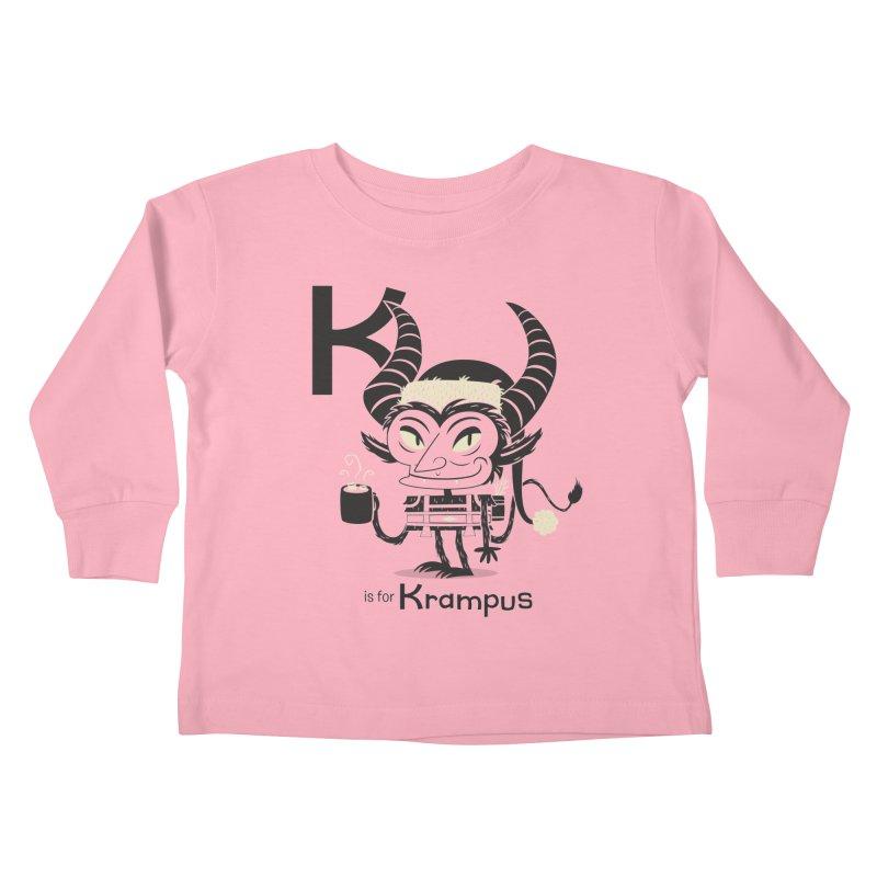 K is for Krampus Kids Toddler Longsleeve T-Shirt by Hazy Dell Press