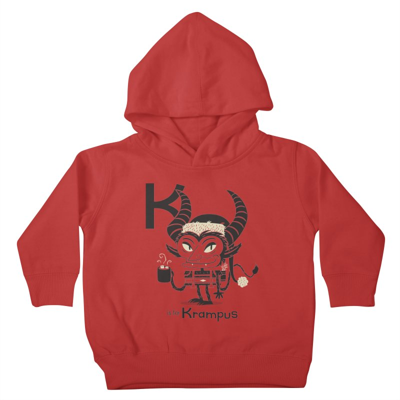 K is for Krampus Kids Toddler Pullover Hoody by Hazy Dell Press