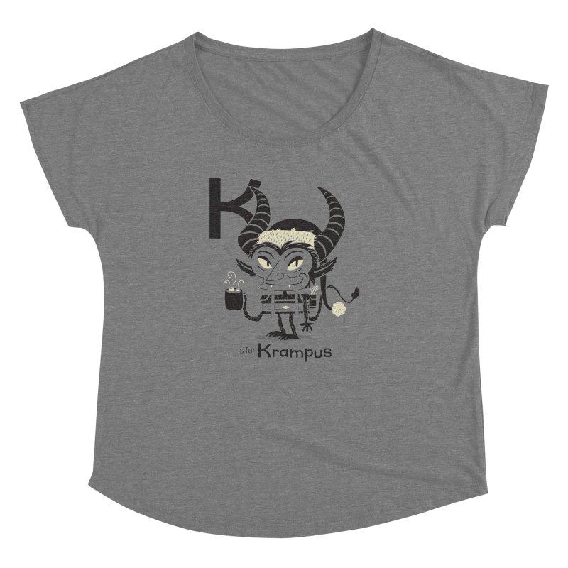 K is for Krampus Women's Dolman by Hazy Dell Press