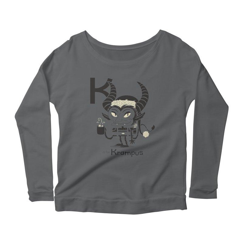 K is for Krampus Women's Scoop Neck Longsleeve T-Shirt by Hazy Dell Press