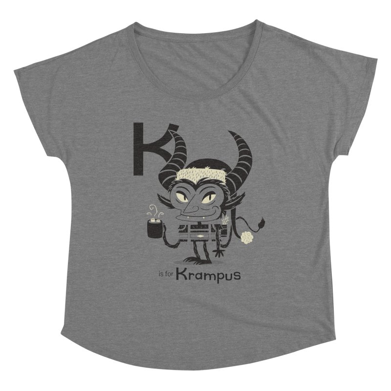 K is for Krampus Women's Scoop Neck by Hazy Dell Press