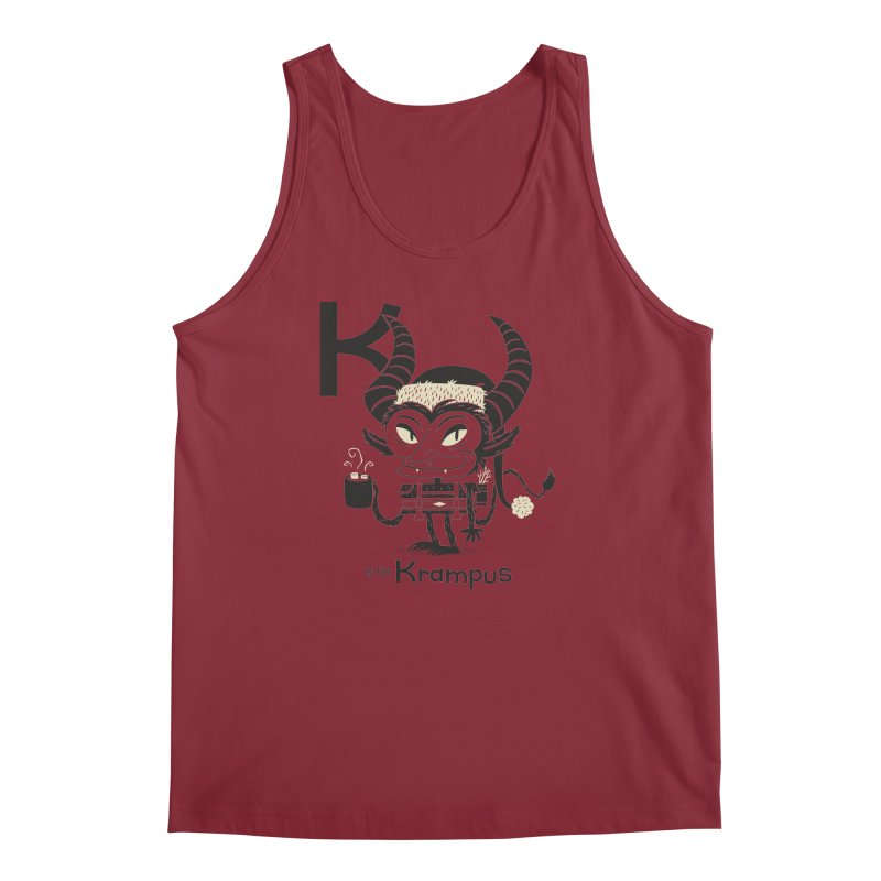 K is for Krampus Men's Regular Tank by Hazy Dell Press