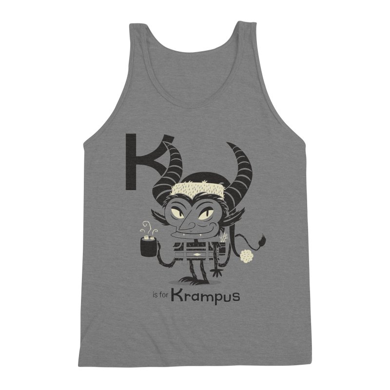 K is for Krampus Men's Triblend Tank by Hazy Dell Press