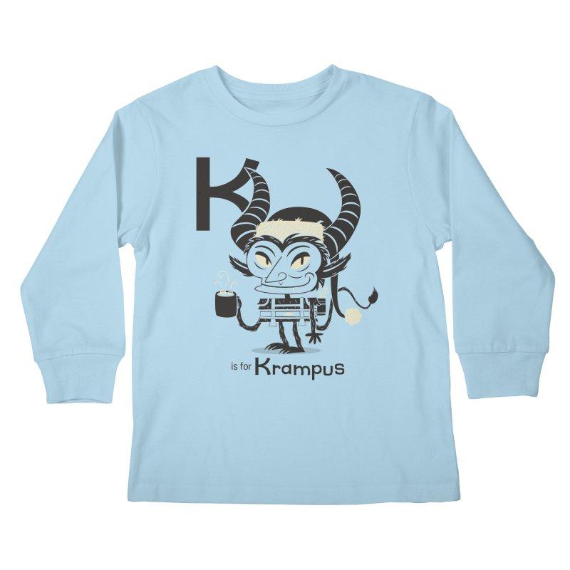 K is for Krampus Kids Longsleeve T-Shirt by Hazy Dell Press