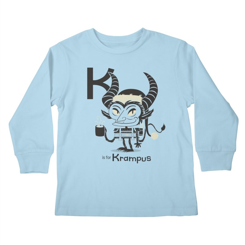K is for Krampus Kids Longsleeve T-Shirt by Hazy Dell Press