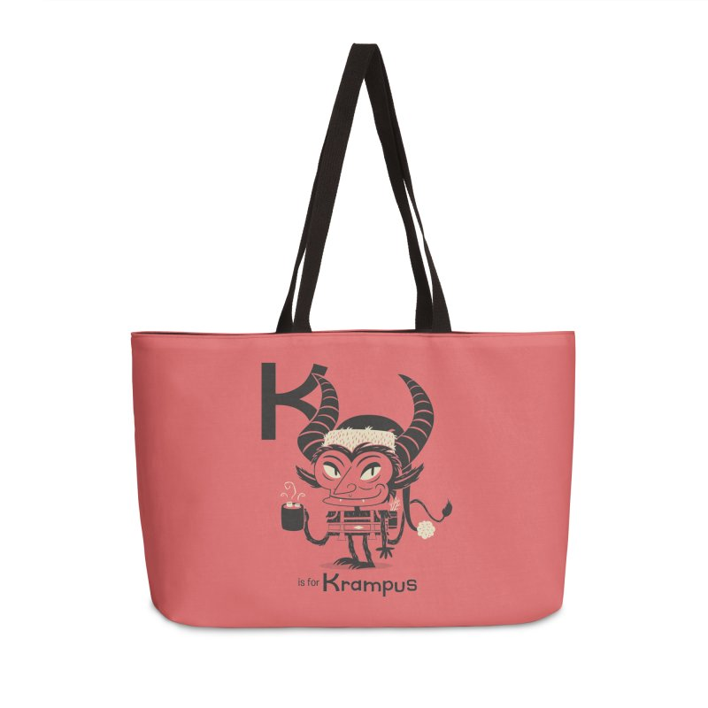 K is for Krampus Accessories Weekender Bag Bag by Hazy Dell Press