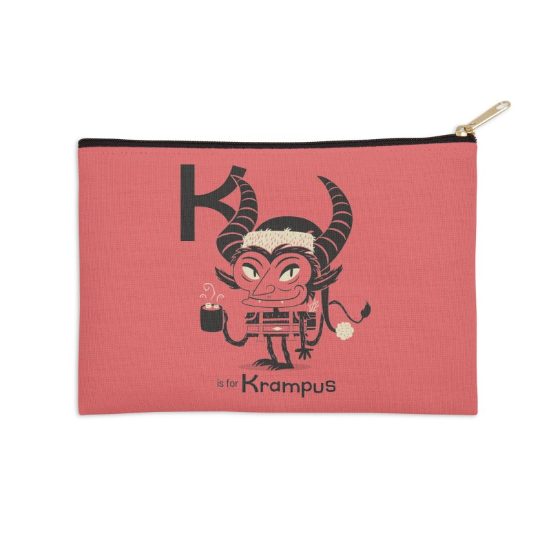 K is for Krampus Accessories Zip Pouch by Hazy Dell Press