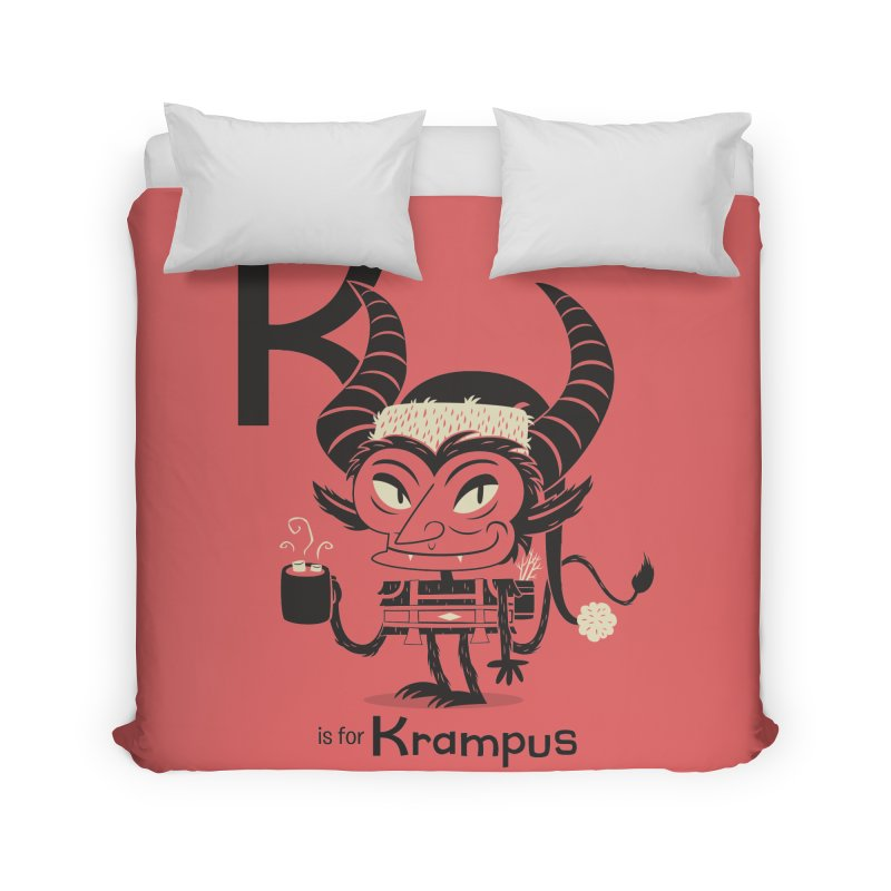 K is for Krampus Home Duvet by Hazy Dell Press