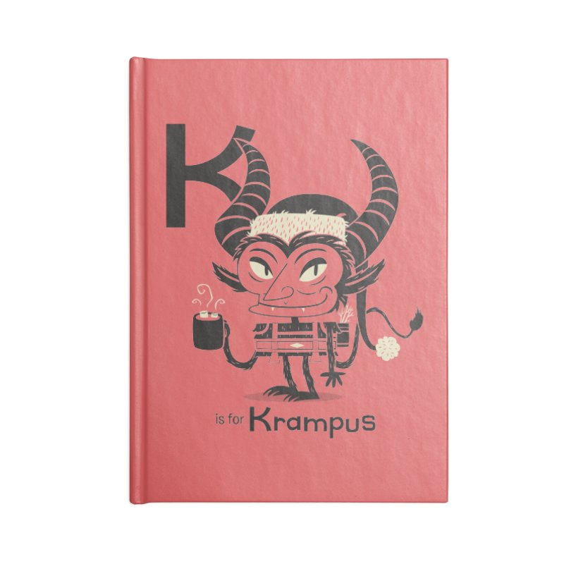 K is for Krampus Accessories Lined Journal Notebook by Hazy Dell Press