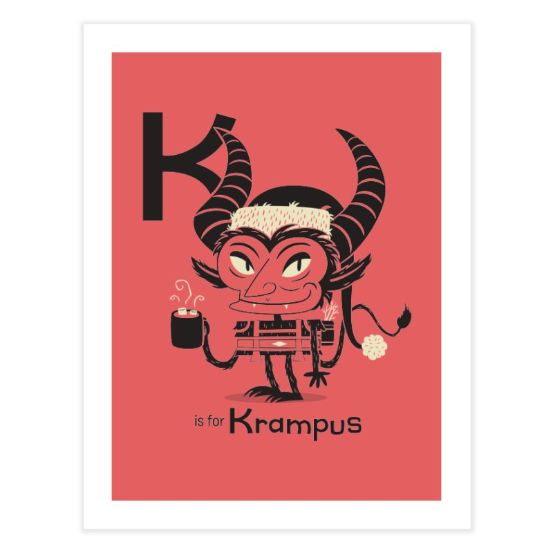 K is for Krampus Home Fine Art Print by Hazy Dell Press